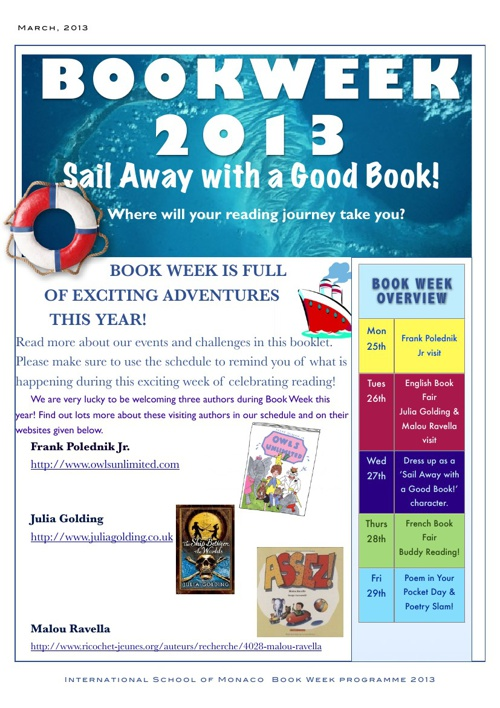 Sail Away With a Good Book! Book Week 2013
