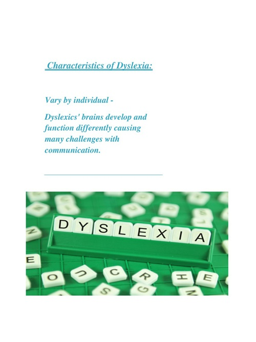 The Many Obstacles of Dyslexia: An Action Plan