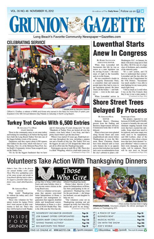 Grunion Gazette | November 15, 2012