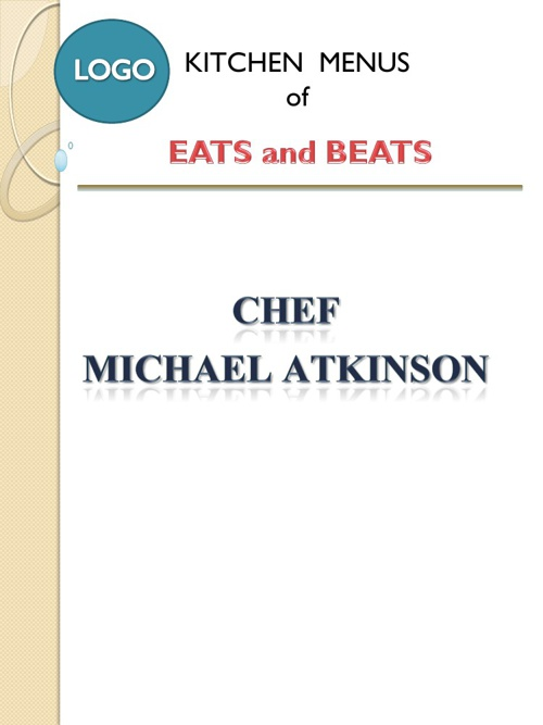 Eats and Beats Menus