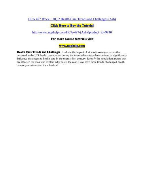 HCA 497(ash) Academic Coach/uophelp