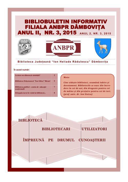 BIBLIOBULETIN NR. 3- 2015