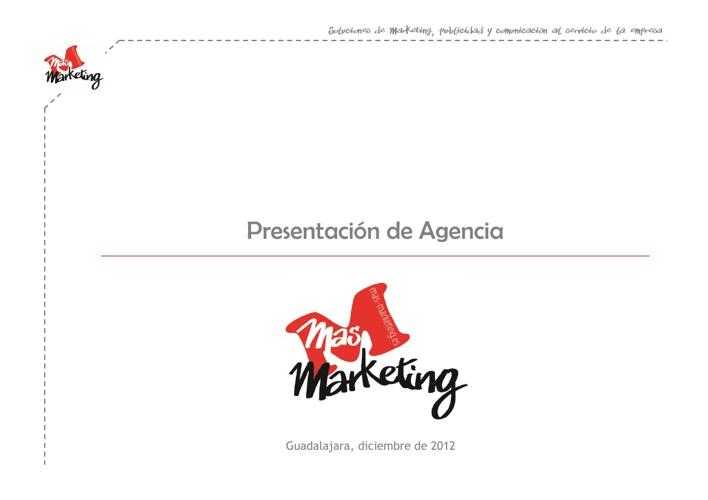 Presentación Agencia Más Marketing