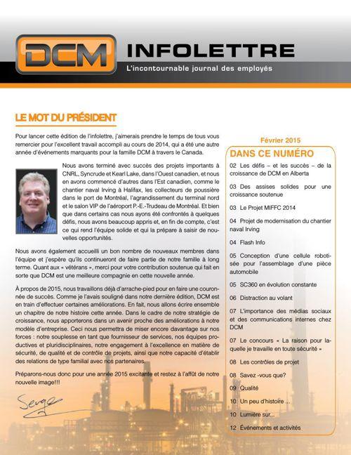 Infolettre DCM février 2015