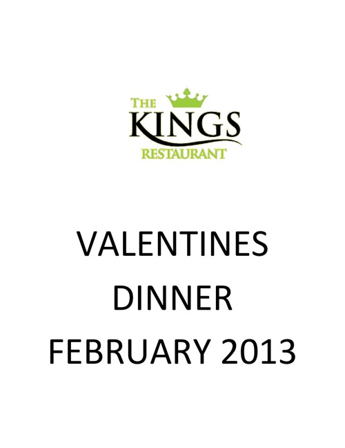 ROMANTIC VALANTINES DINNER