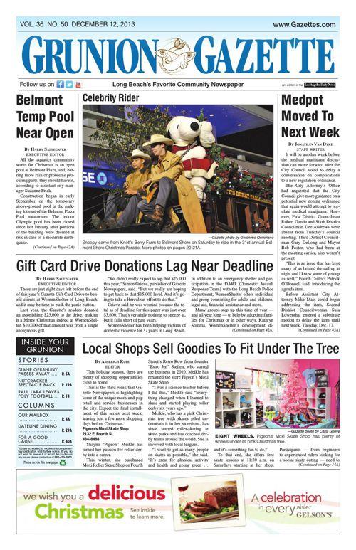 Grunion Gazette   December 12, 2013
