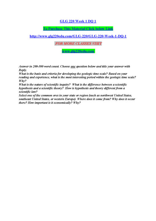 glg 220 edu The power of possibility/glg220edudotcom
