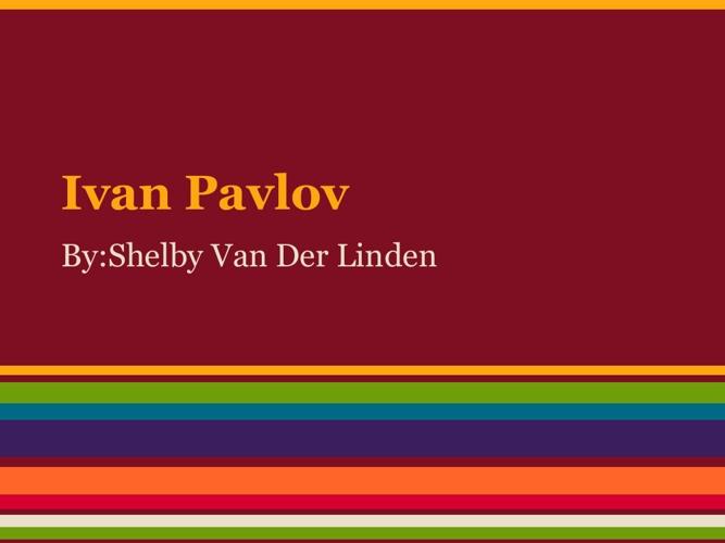 P1 S Van Der Linden Pavlov