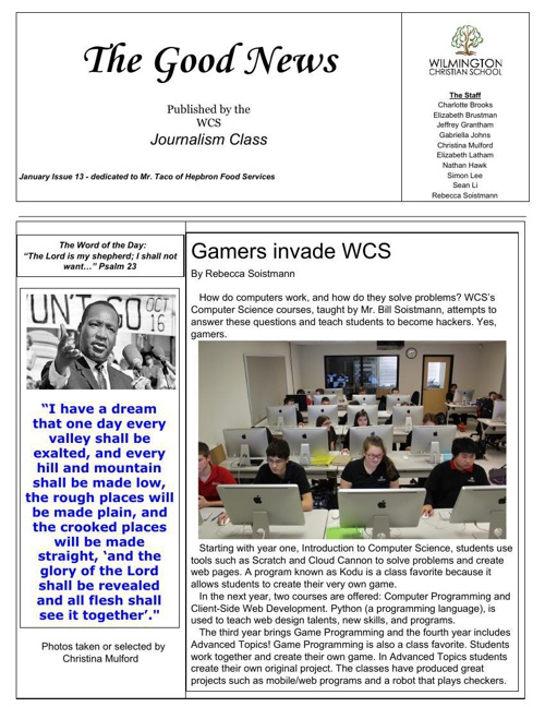 The Good News 2015 Issue 1