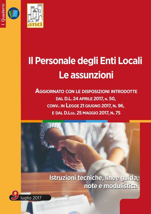 Il Personale degli Enti Locali - Le Assunzioni