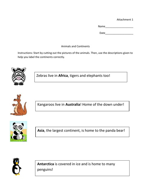 Worksheets and Activities