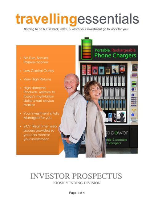 Travelling Essentials Investor Prospectus