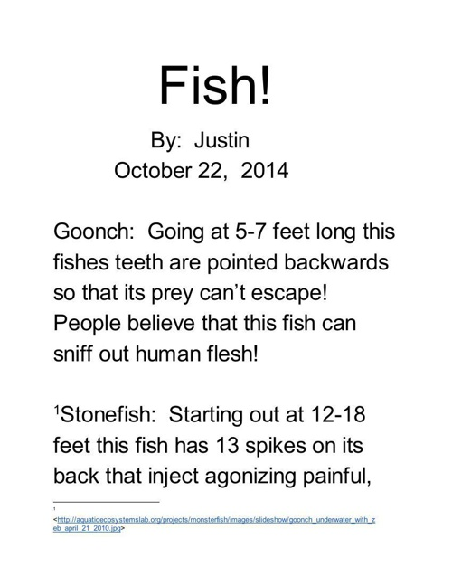 Fish - Google Docs