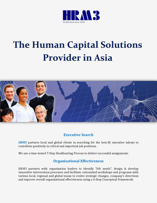 The Human Capital Solutions Provider in Asia