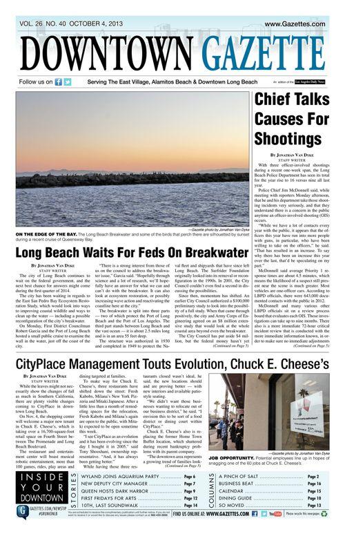 Downtown Gazette  |  October 4, 2013