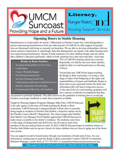 UMCM Suncoast Newsletter - November 2015