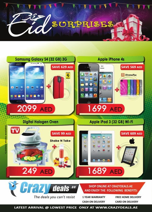 Eid surprises from Crazydeals.ae