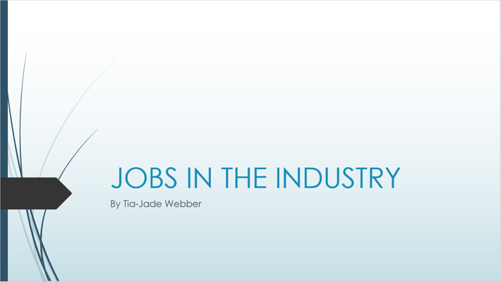 JOBS IN THE INDUSTRY BOOKLET