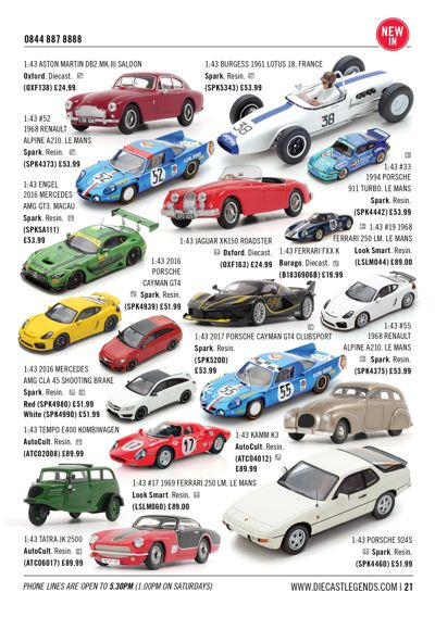 Diecast Legends October 2017