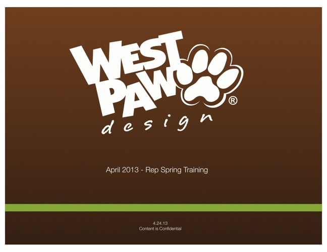 West Paw Spring Training 2013