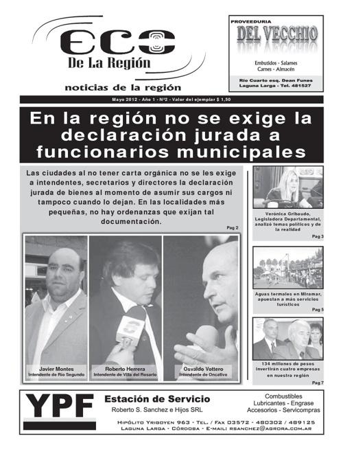 Eco de la Región (Mayo 2012)