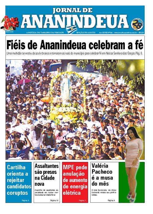 JORNAL DE ANANINDEUA EDIÇÃO DE AGOSTO 2012
