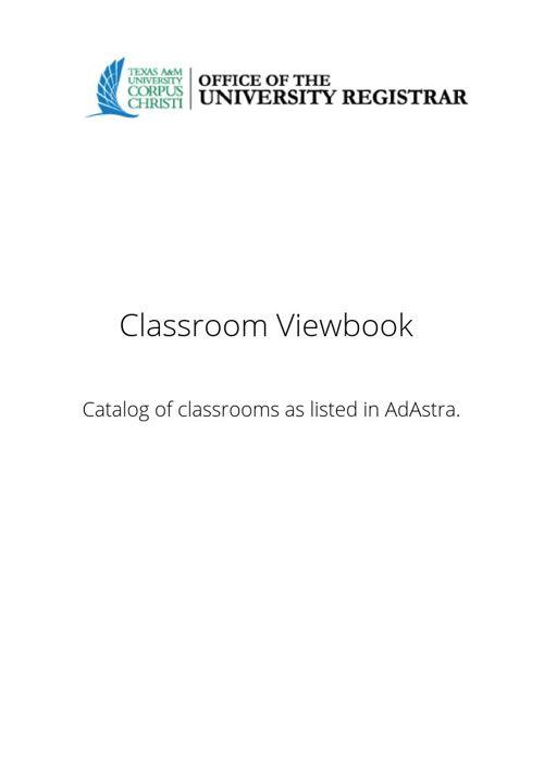 Classroom Viewbook