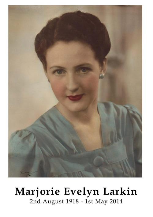 4 Order of Service for Marjorie Evelyn Larkin