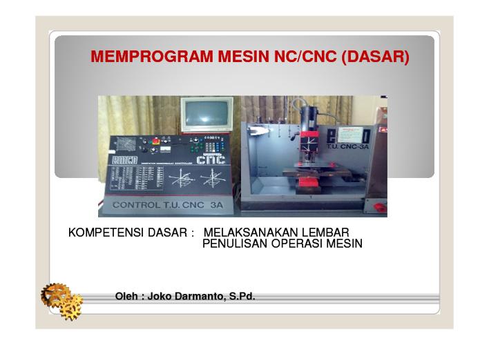 Lembar Penulisan Program CNC