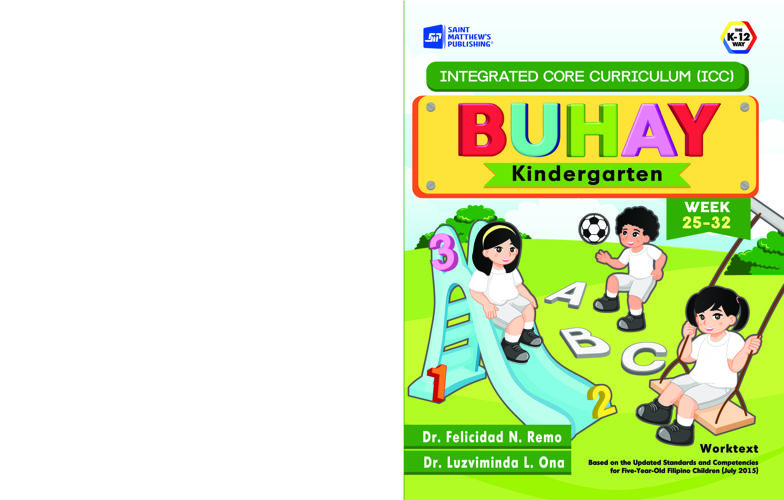 Integrated Core Curriculum BUHAY Kindergarten Week  25-32