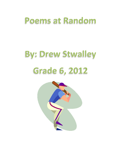Poetry Booklet Drew Stwalley