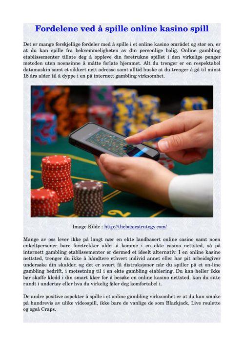 fordelene ved å spille online kasino spill