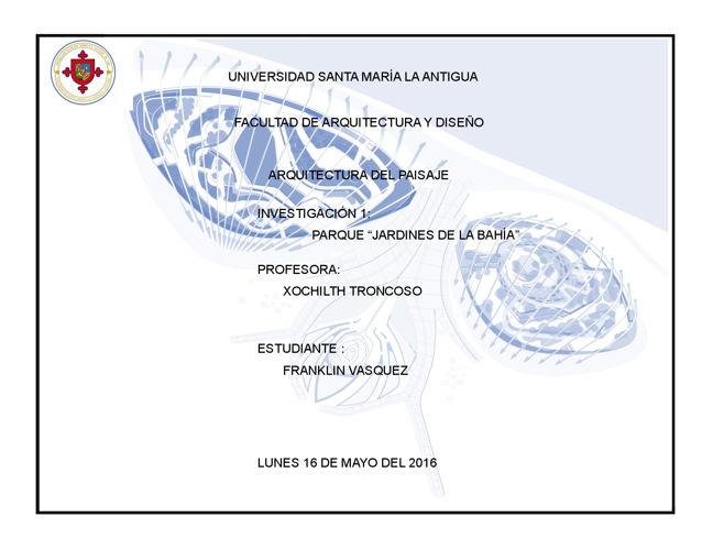 jardines de la bahia- franklin vasquez (actualizado)