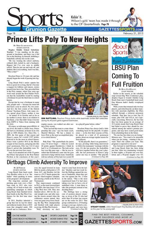 Gazette Sports   February 21, 2013