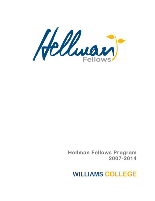 2014 Williams awardees booklet