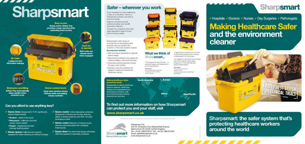 Sharpsmart and Clinismart - All Round Waste Solutions