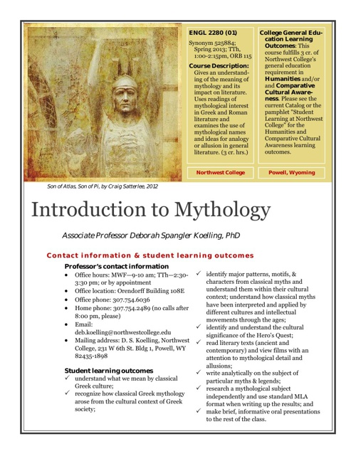 Description | Intro to Myth