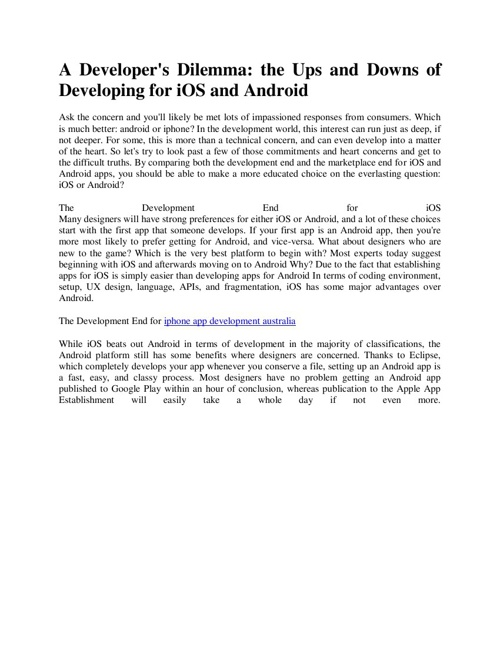 iphone app developer melbourne