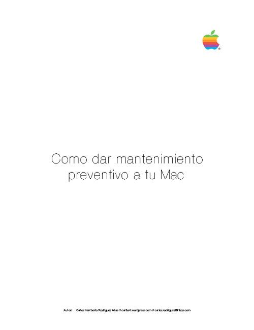 como dar mantenimiento mac