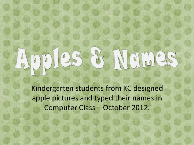 KC Apples & names