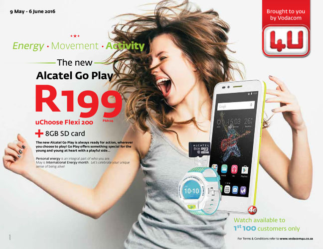 Vodacom4U (9 May - 6 June 2016)
