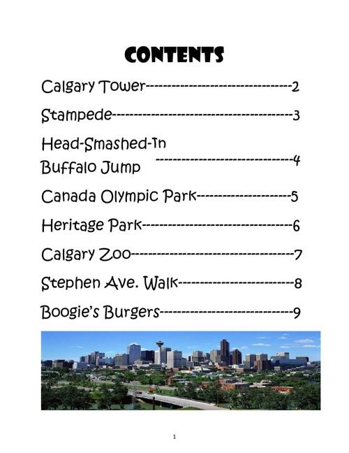A Tourism Book of Calgary