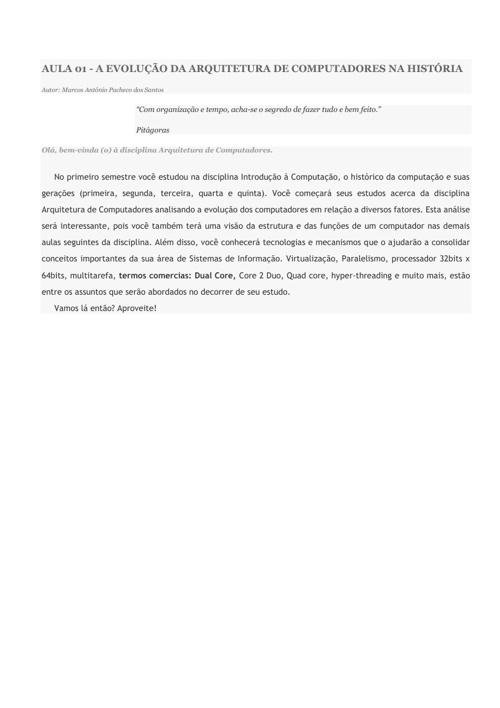 Sistemas Distribuídos - AULA 01