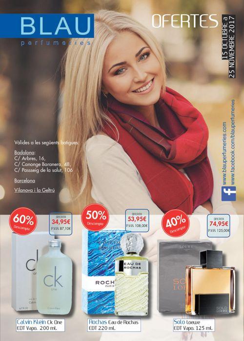 Folleto octubre noviembre Blau Perfumeries