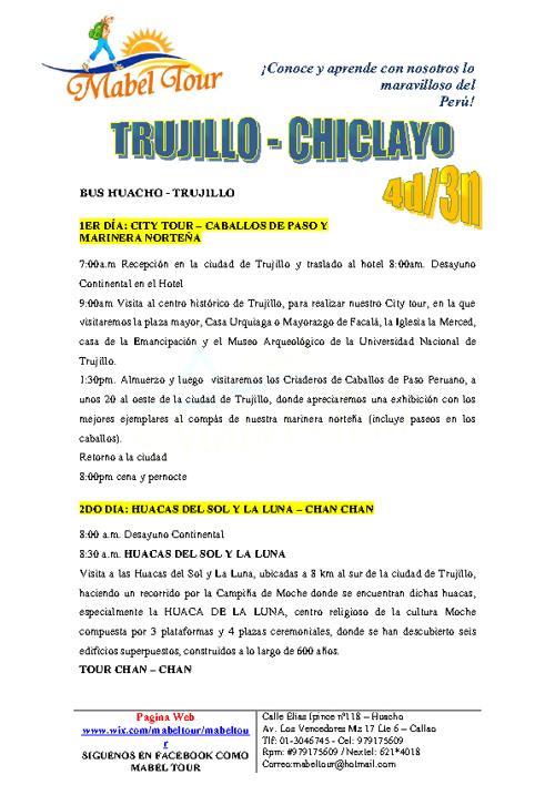 VIAJES DE PROMOCION MABEL TOUR - HUACHO