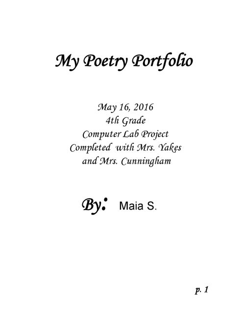 Poetry-Portfolio-Maia S