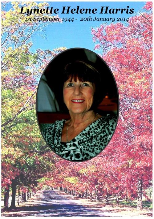 4 Order of Service for Lynette Helene Harris