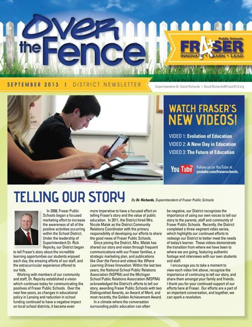 September 2013 Over the Fence Newsletter