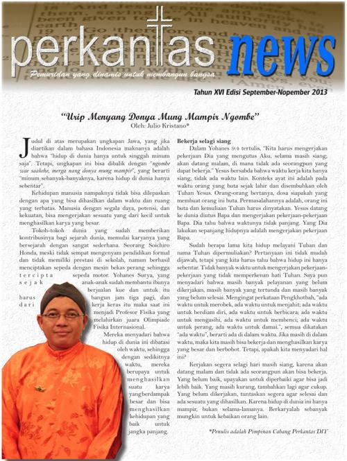 Perkantas News edisi September - Nopember 2013