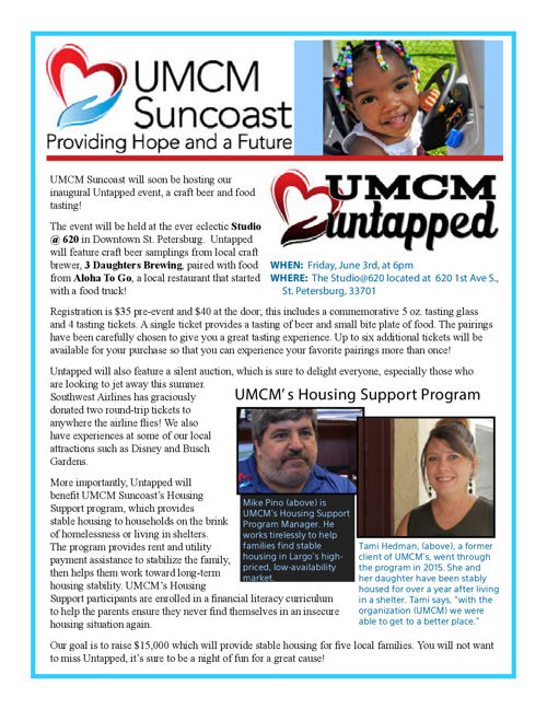 UMCM Suncoast Newsletter - May 2016